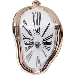 Table Clock Flow Rosegold