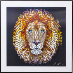 Picture 3D Lion Head 60x60cm