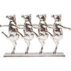 Deco Figurine Dancing Cows Rose Gold