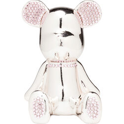 Money Box Funky Bear Crystal Sit Rose Gold