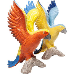 Deco Figurine  Parrot Duo Assorted