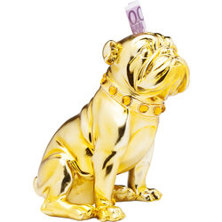 Tirelire Sitting Bulldog or 26cm