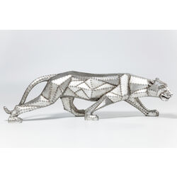 Figura decorativa Cat Rivet Geometric plata