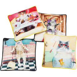 Cushion Cats Life 45x45cm Assorted
