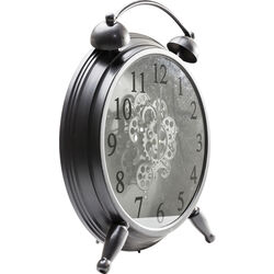 Table Clock Gear Black
