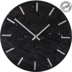 Wall Clock Desire Marble Black