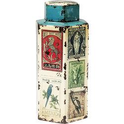 Envase decorativoVintage Stamps 40cm