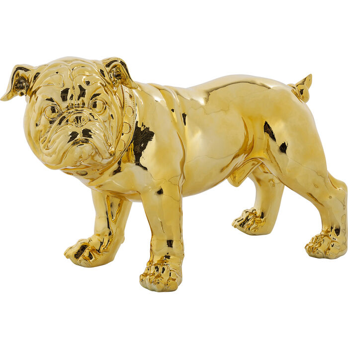 deko figur bulldogge gold eco 42cm kare design. Black Bedroom Furniture Sets. Home Design Ideas