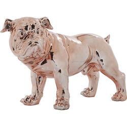 Figura decorativa Bulldogge rosa dorado Eco 42cm