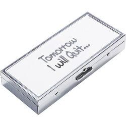 Cigarette Case Tomorrow I Will Quit