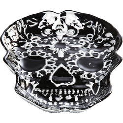Deco Bowl Skull Black 40cm
