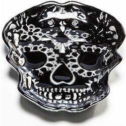 Deco Bowl Skull Black 21cm