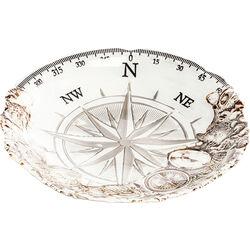 Deco Bowl Compass Lightblue Ø40cm