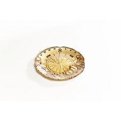 Deco Plate Compass Gold Ø21cm