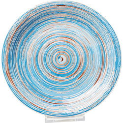 Plate Swirl Blue Ø27cm