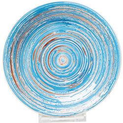 Plate Swirl Blue Ø19cm