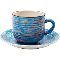 Coffee Mug Swirl Blue (2/Set)