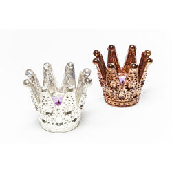 Tealight Holder Crown Big Assorted