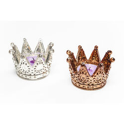 Tealight Holder Crown Small Assorted