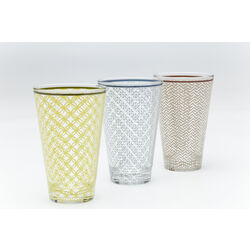 Long Drink Glass Sweet Home Assorted