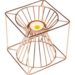 Tea Light Holder Wire Square Rose Gold