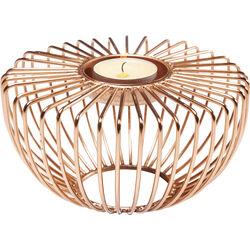 Tea Light Holder Wire Round Rose Gold
