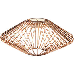 Tea Light Holder Wire Disc Rose Gold