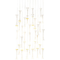 Pendant Lamp Fallen Trumpets White