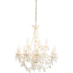 Pendant Lamp Gioiello Crystal Pearls 14-Branched