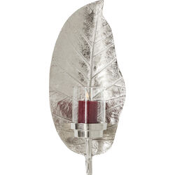 Candle Holder Leaf Silver