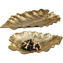 Deco Bowl Autumn Leaf  Gold (2/Set)
