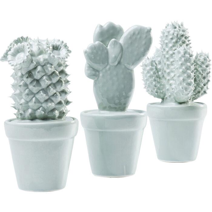 deco object cactus light blue assorted kare design. Black Bedroom Furniture Sets. Home Design Ideas