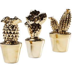 Deco Cactus Gold Glossy  Small Assorted