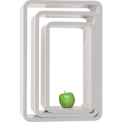 Lounge Cube Oval white (3/Set)
