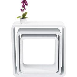 Lounge Cube Square white (3/Set)