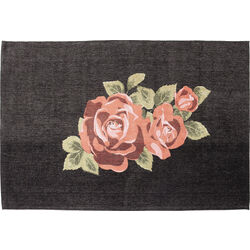 Carpet Roses Black 240x170cm