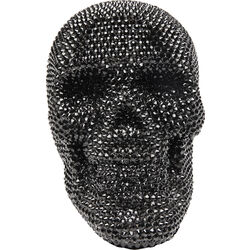 Deco Object Crystal Skull Black
