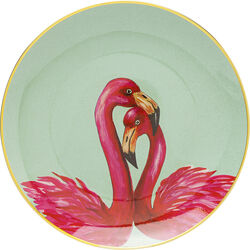 Piatto decorativo Flamingo Couple Ø27cm