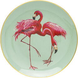 Deco Plate Flamingo Group Ø27cm