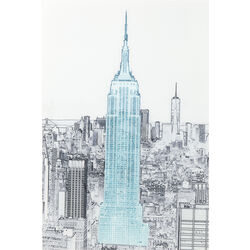 Picture Glass Drawing Empire State Building 120x8