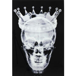 Picture Glass Crown Skull 120x80cm