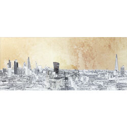 Picture Glass Metallic London View 50x120cm