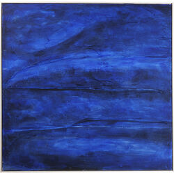 Acrylic Painting Abstract Deep Blue 155x155cm
