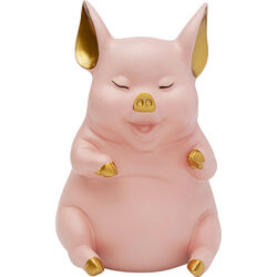 Money Box Pig Sitting Pink
