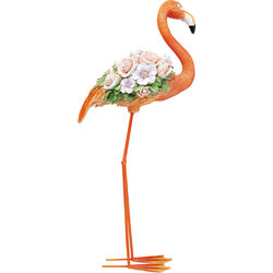 Deco Object Flamingo Flower Power Orange 75cm