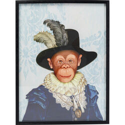 Picture Frame Art Monkey Sir 80x60