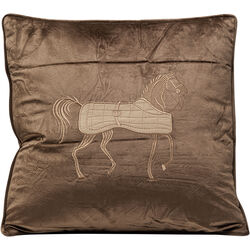 Cushion Applique Horse 45x45cm
