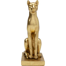Deco Object Sitting Cat Gold 25cm