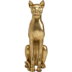 Deco Object Sitting Cat Gold 74cm