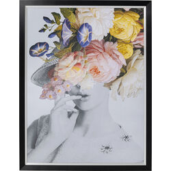 Picture Frame Flower Lady Pastel 152x117